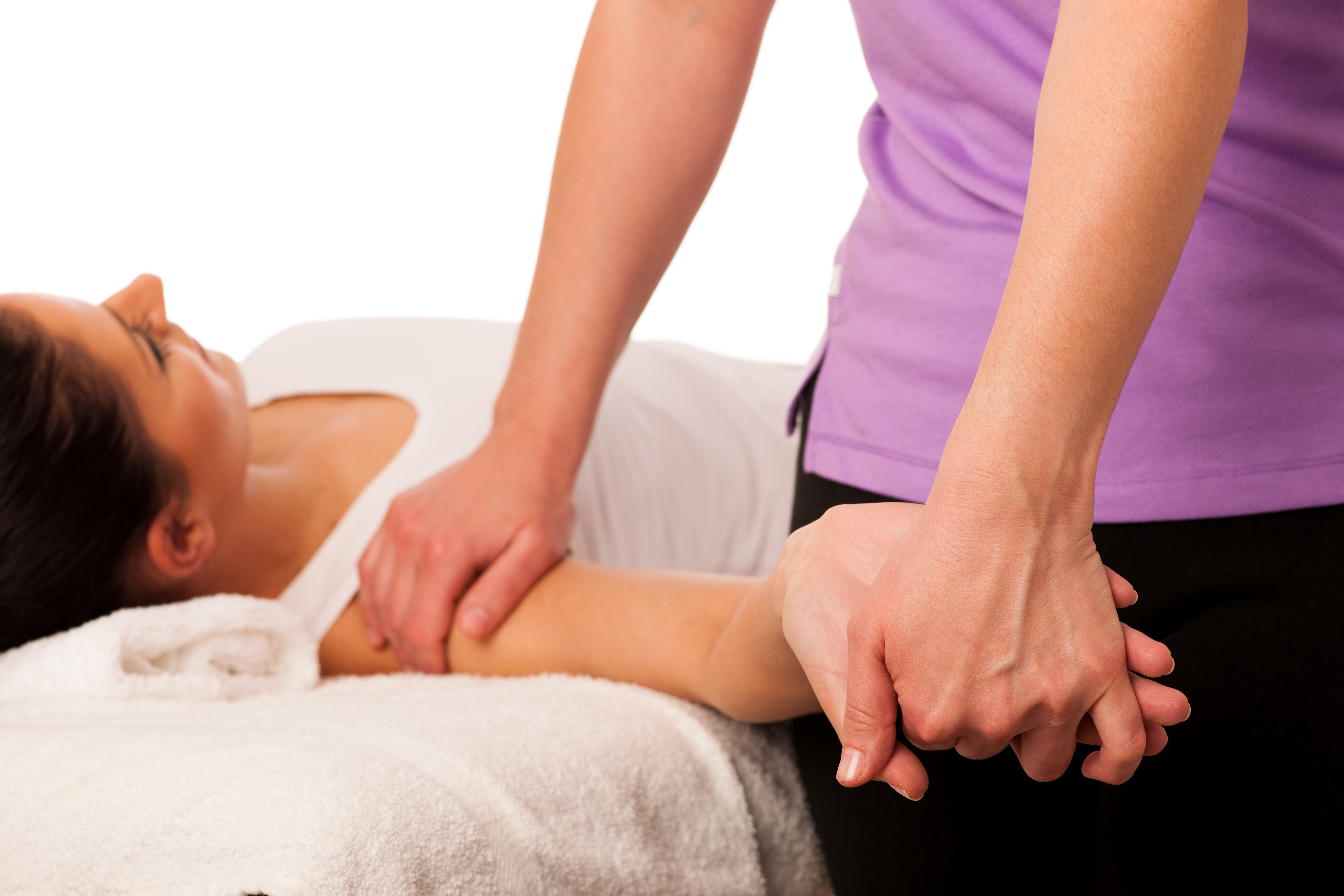 Physiotherapy -therapist Excercising With Patient , Working On A
